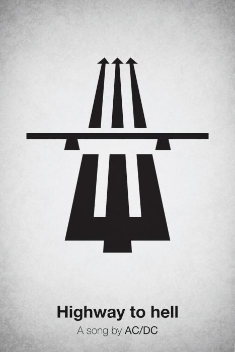 Minimal Pictogram Music Posters - 2