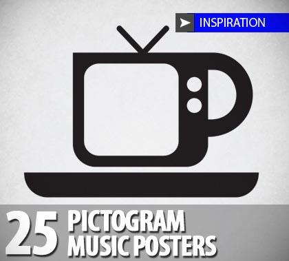 Minimal Pictogram Music Posters