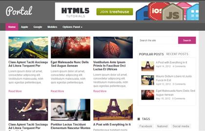 Portal Responsive WordPress Themes - 1