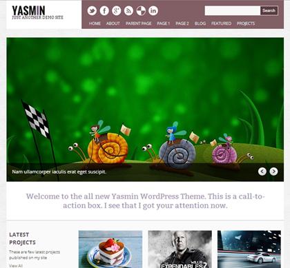 Yasmin Responsive WordPress Themes - 12