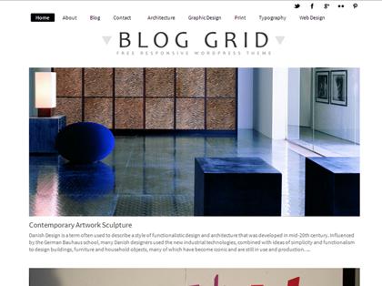 Blog Grid Responsive WordPress Themes - 19
