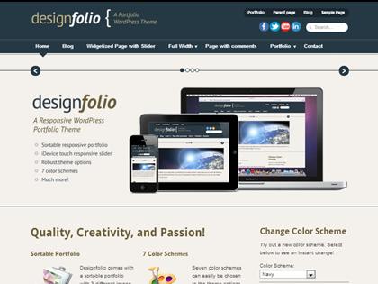 Designfolio Responsive WordPress Themes - 7