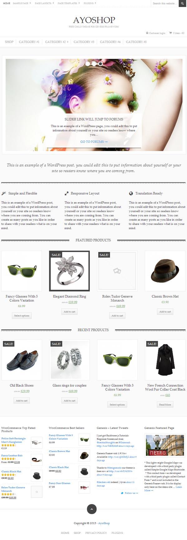 AyoShop Responsive eCommerce WordPress Themes - 4