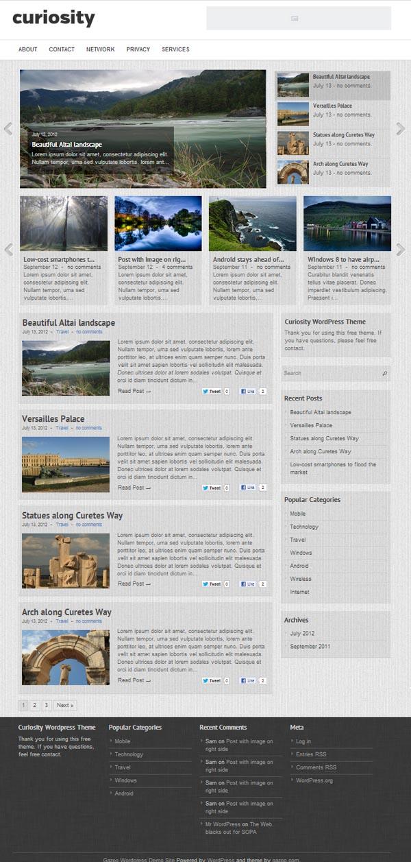 Curiosity Responsive Magazine WordPress Themes - 8