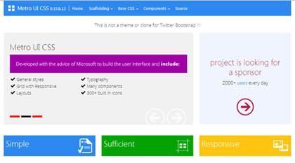 Metri UI CSS: Create Windows 8 Style Interface