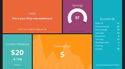 Awesome Dashboard Design framework : Dashing