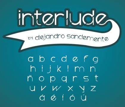 Interlude freefonts - 07