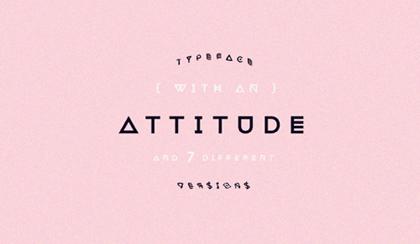 Attitude freefonts - 1-1