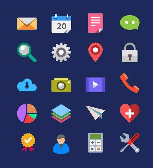 Beautiful Flat Icons Design-11