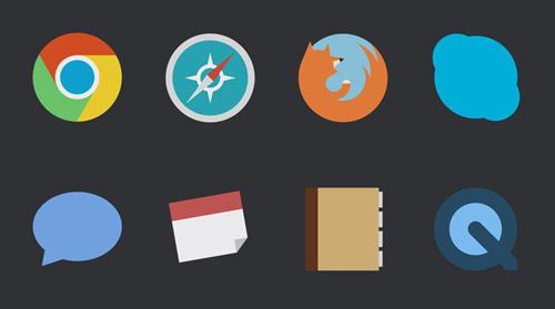 Beautiful Flat Icons Design-17