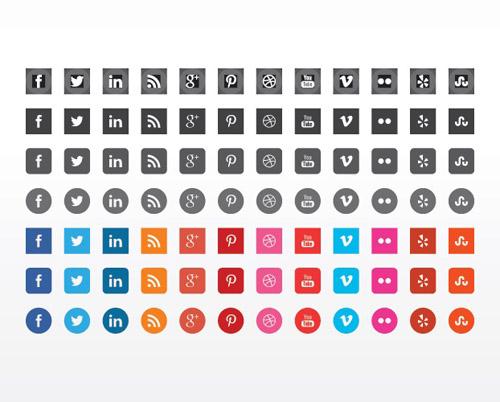 Beautiful Flat Icons Design-22