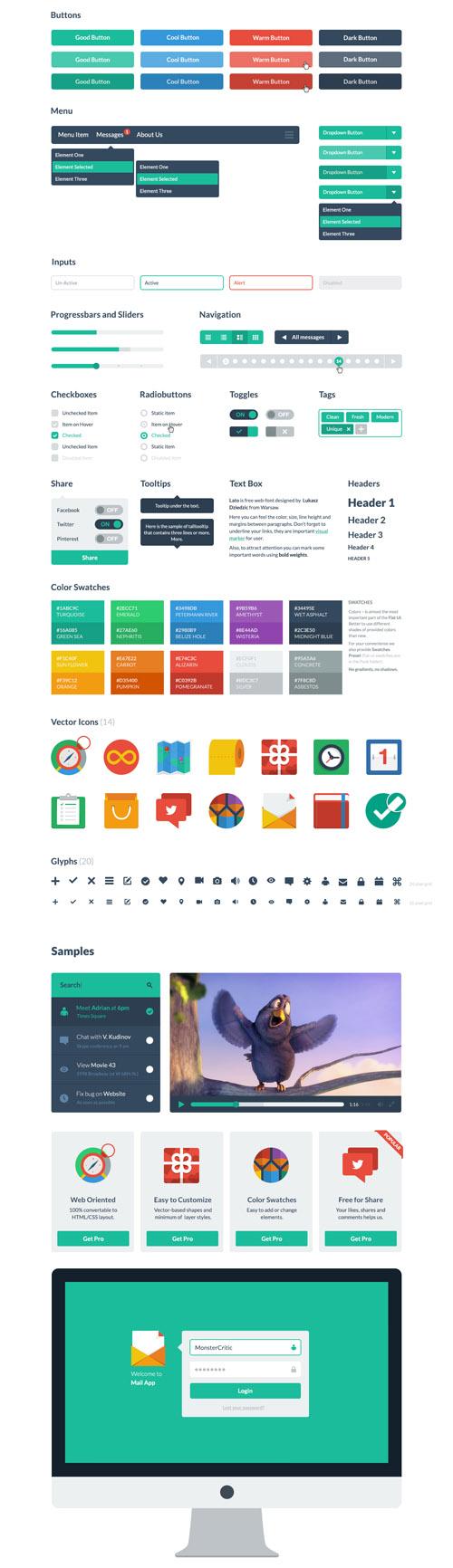 Beautiful Flat Icons Design-31