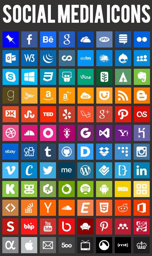 Beautiful Flat Icons Design-34