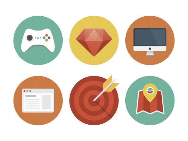 Beautiful Flat Icons Design-7