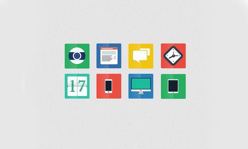 Beautiful Flat Icons Design-8