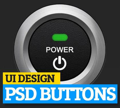 UI Design PSD Buttons