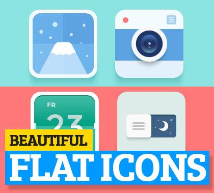 Beautiful flat icons design