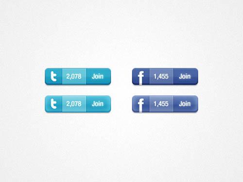 UI Design PSD Buttons-25