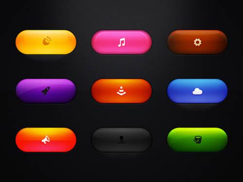 UI Design PSD Buttons-28