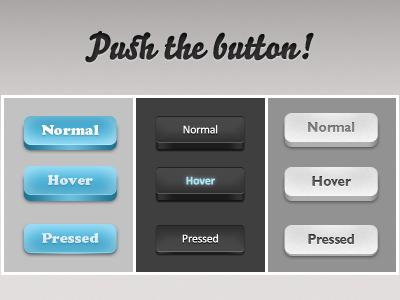 UI Design PSD Buttons-3