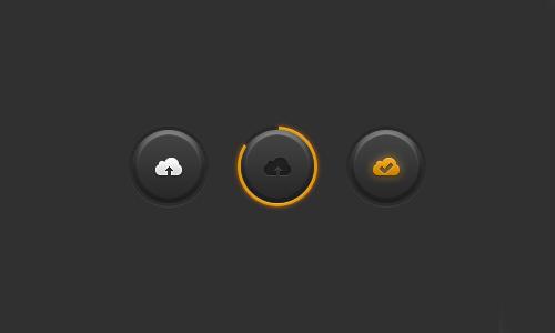 UI Design PSD Buttons-35