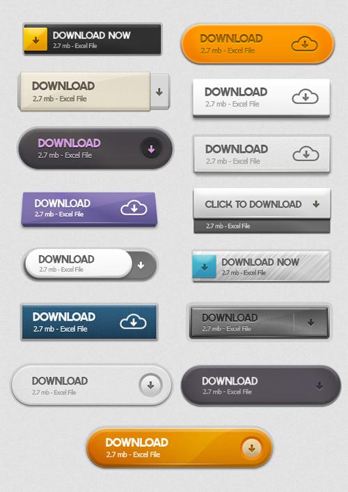 UI Design PSD Buttons-36