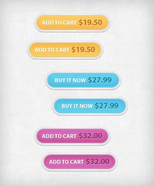 UI Design PSD Buttons-38