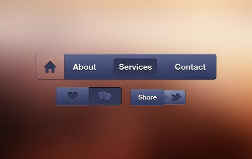 UI Design PSD Buttons-41