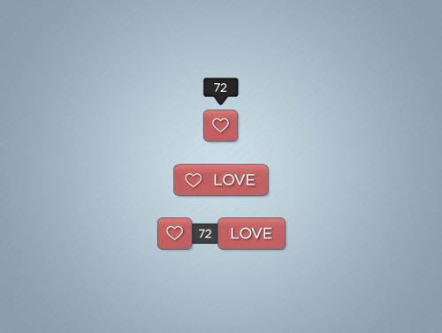 UI Design PSD Buttons-48
