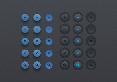 UI Design PSD Buttons-9