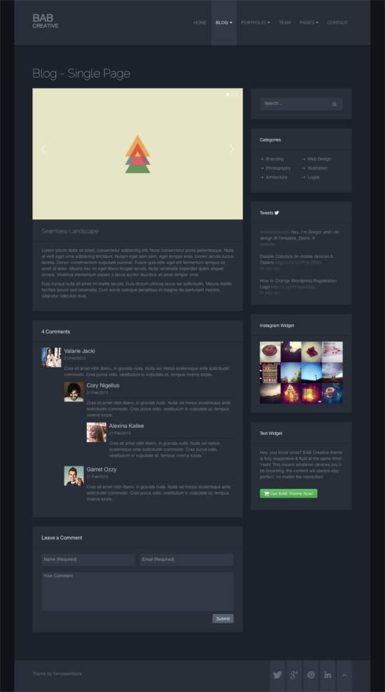 BAB: Clean, Responsive Portfolio WordPress Theme