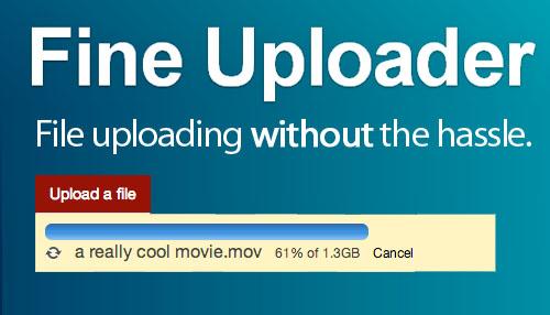 Fine Uploader: Javascript Standalone File Uploader Library