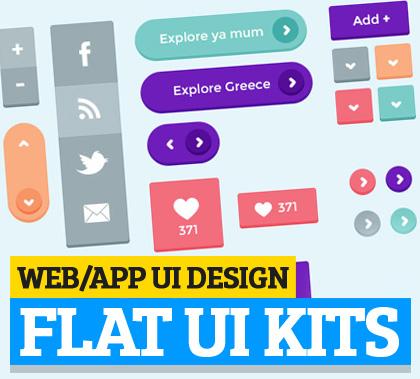 Flat UI Kits, Best for Web App UI Design