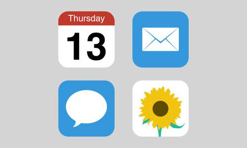 Flat iOS Icons [Free PSD]