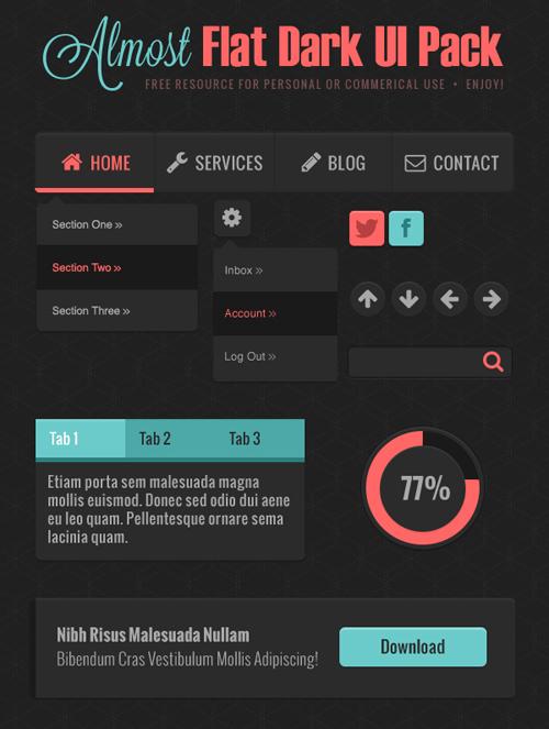 Flat UI Kits, Best for Web and App UI Design