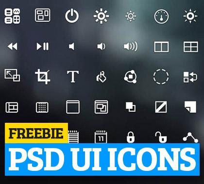 Free PSD UI Icons