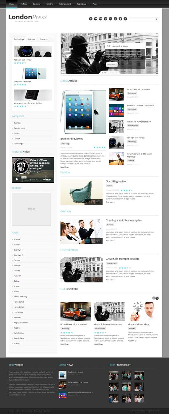Londonpress - Responsive Blog Magazine