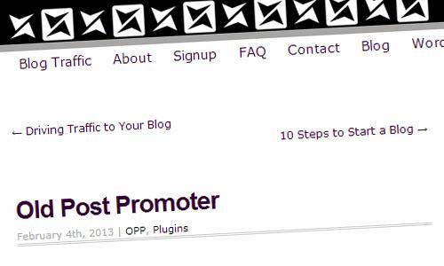 Old Post Promoter WordPress Plugin