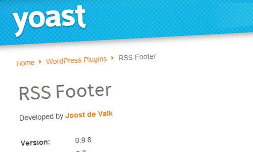 RSS Footer WordPress plugin