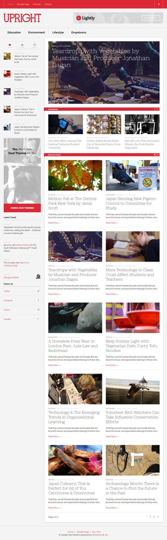 Upright - Magazine WordPress Theme