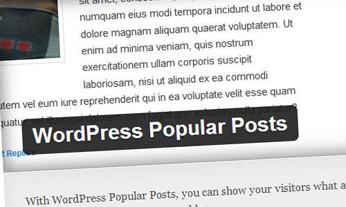 WordPress Popular Posts Plguin