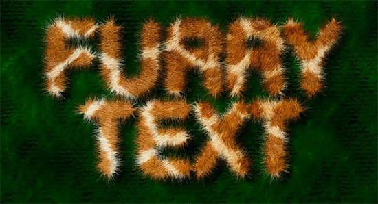 Create a Fur text effect