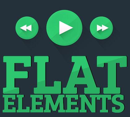 Free Flat Elements for UI Design