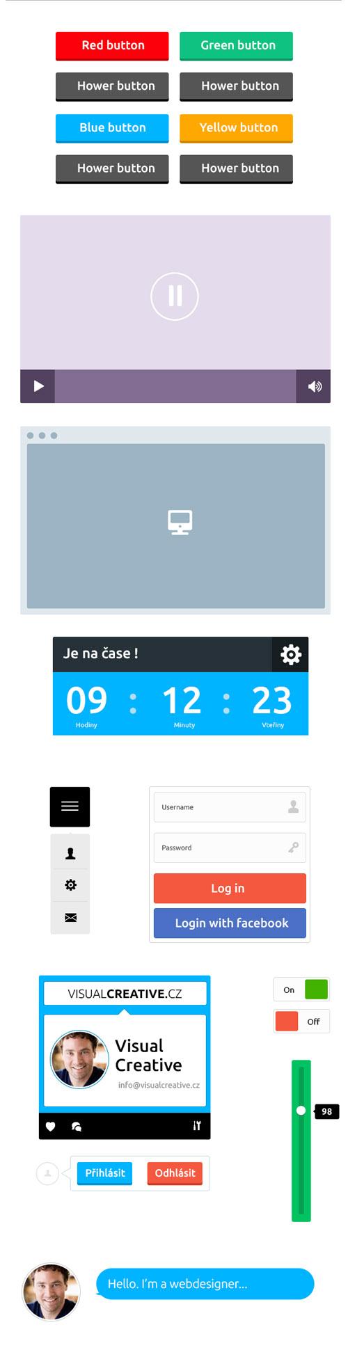 Flat Elements for Web UI Design-25