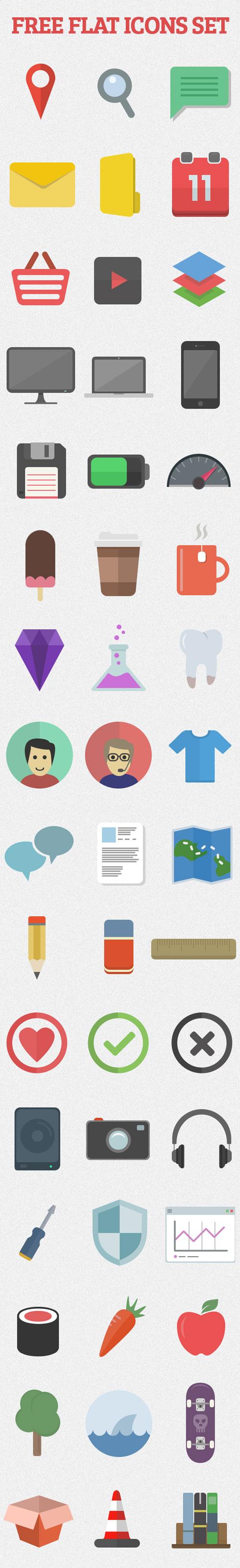 Flat Elements for Web UI Design-43