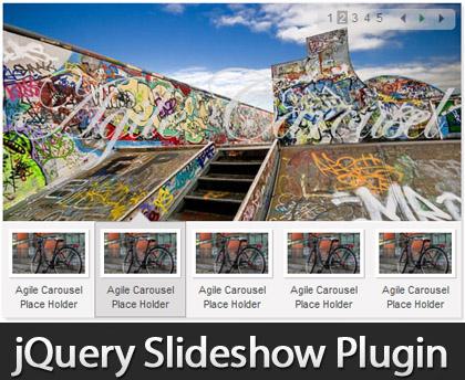 Javascript SlideShow Plugin, Highly-Flexible jQuery Slideshow Plugin: Agile Carousel