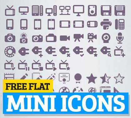Free Flat Mini Icons