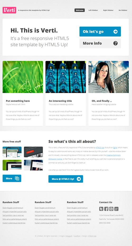 Responsive PSD Web Templates