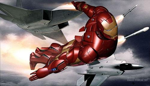 Iron Man Movie Key Frame Illustration