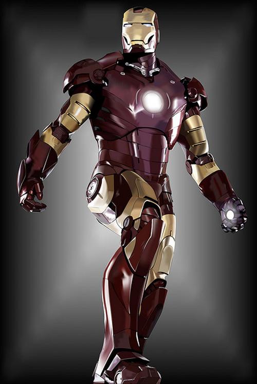 Iron Man Technical Illustration